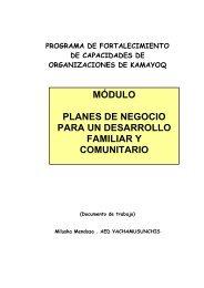 módulo planes de negocio para un desarrollo familiar y comunitario