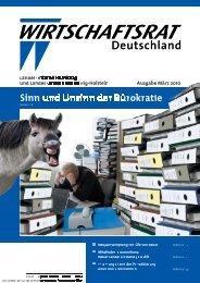 Sinn und Unsinn der Bürokratie - Wirtschaftsrat der CDU e.V.
