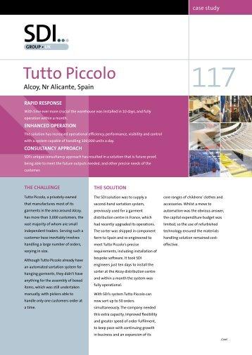 Case Study 117 – Tutto Piccolo, Alcoy, Spain - Sdi Group UK