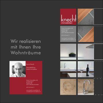 Firmen-Flyer - Knecht-Immobilien
