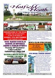 September2010 Edition - Hatfield Heath Village Magazine