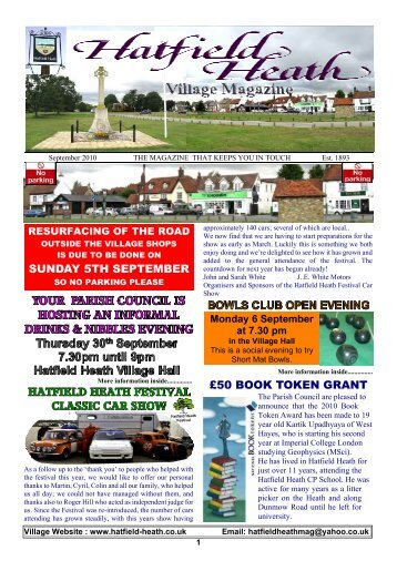 September2010 Edition - Hatfield Heath Village Magazine