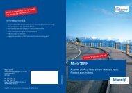 Prospekt Motorfahrzeugversicherung MediDRIVE Allianz Suisse