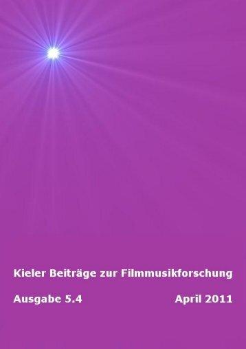 Download Kieler Beiträge zur Filmmusikforschung 5.4, April 2011