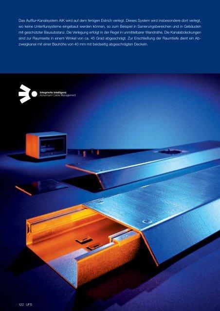 Broschüre / Ackermann / Katalog UFS Aufbodeninstallationskanal