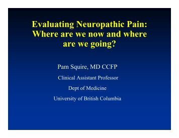 Evaluating Neuropathic Pain - The Canadian Pain Society