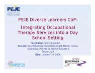 Integrating Occupational Therapy Services into a Day School Setting