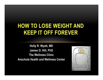 weight loss - Anschutz Health and Wellness Center