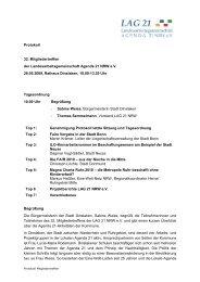 32.MT der LAG 21 NRW e.V. - Landesarbeitsgemeinschaft Agenda ...