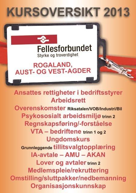 ADK Sør-Vest 2013 - Fellesforbundet