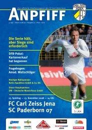 FC Carl Zeiss Jena SC Paderborn 07