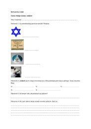 Karta pracy z etyki Temat. Religie świata. Judaizm Imię i nazwisko ...