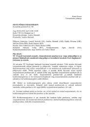 Põhjaveekomisjoni koosoleku protokoll nr 108