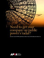 Sponsor/Vendor Prospectus - American Public Power Association