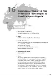 Extension of Improved Rice Production Technologies to Rural Farmers