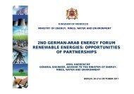 opportunities of partnerships - Arab-German Energy Forum Ghorfa ...