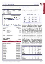 24.05.2007 Dr. Hoenle News-Flash EUR 11,00 ... - Dr. Hönle AG