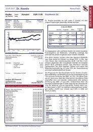 24.05.2007 Dr. Hoenle News-Flash EUR 11,00 ... - Dr. Hönle AG