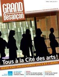 N°57 (mars-avril 2013) : Tous à la Cité des Arts - Besançon