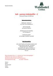 Kalt - warmes Imbissbuffet – 2 - Waldhotel Cottbus