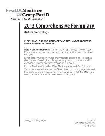 What is a Medicare formulary?