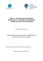 NCRF 14 – Empresariais e os i - Estudo de caso n – Concentrações ...