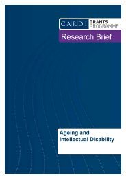 Ageing and intellectual disability research brief - CARDI