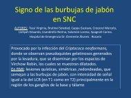 Signo de las burbujas de jabón en SNC - Congreso SORDIC