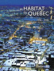 El hábitat en Quebec - Société d'habitation du Québec
