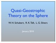 Quasi-Geostrophic Theory on the Sphere - cmmap