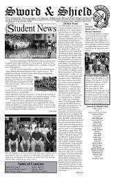 Sword & Shield - December Issue - Memorial High School