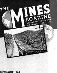 S E P T E M B E R - 1 9 4 0 - Mines Magazine - Colorado School of ...