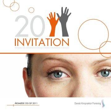 Se invitation til årsmødet - Dansk Kiropraktor Forening