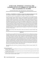 estructura, diversidad y potencial para conservación de los ...
