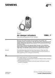 4614 Air damper actuators GMA...1