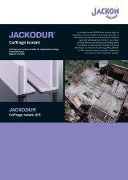 JACKODUR Coffrage Isolant JDS - Jackon Insulation