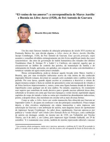 """El venino de tus amores"": a correspondência de Marco Aurélio e ..."