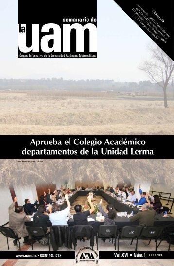Aprueba el Colegio Académico departamentos de la Unidad Lerma