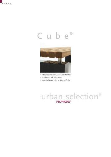 C u b e urban selection® - Runge: Stadtmobiliar - Bänke