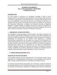 INFORME DE SEGUIMIENTO DE LA EJECUCION FISICA Y ...
