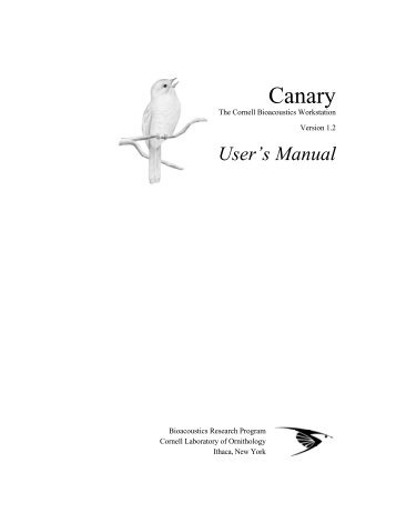 User's Manual - Cornell Lab of Ornithology - Cornell University