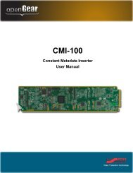 CMI-100 User Manual - Ross Video
