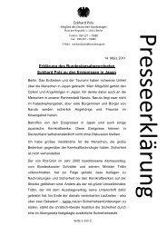 Eckhard Pols Erklärung des Bundestagsabgeordneten Eckhard Pols ...