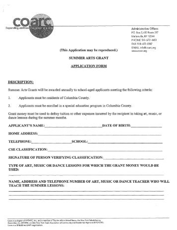 Grant Application Form Tick Which Category You    Accessible Arts