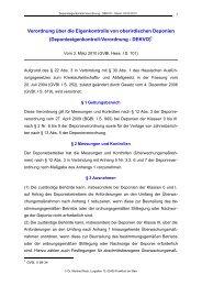 Deponieeigenkontroll-Verordnung - DEKVO - RACK rechtsanwaelte