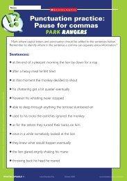 Punctuation practice: Pause for commas - Scholastic