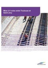 la mise a 4 voies toulouse/st-jory - RFF