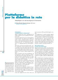 Piattaforme per la didattica in rete - TD Tecnologie Didattiche