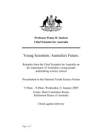 Young Scientists: Australia's Future. - Chief Scientist for Australia