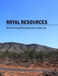 Royal ResouRces - The International Resource Journal
